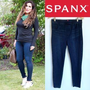 SPANX Jean-ish Ankle Leggings in Blue Jean